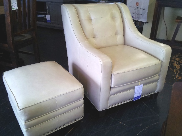 203 leather chair and otto