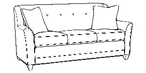 236 Mid Size Sofa