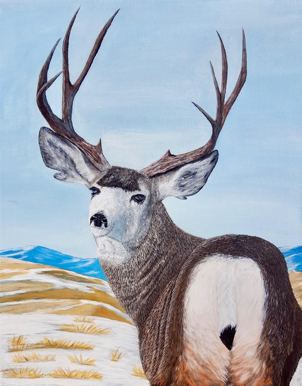 Mule+Deer+in+the+Prairies+-+Brian+Sloan+Artist