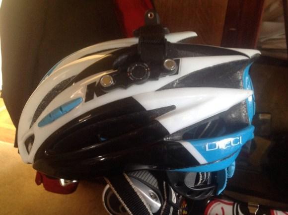 Side view of helmet