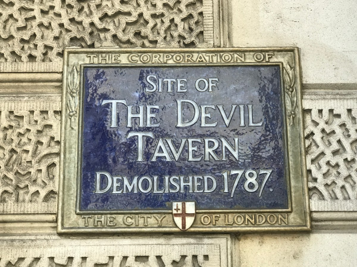 Property development affected pubs even in the 18th Century!