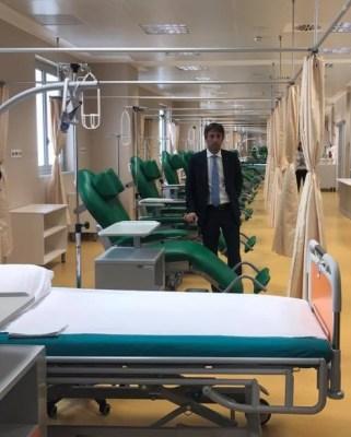 Il vice presidente della Regione Lombardia Fabrizio Sala in visita al nuovo Day Hospital oncologico