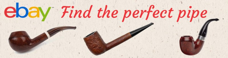 Photo of estate pipes and a link to current eBay estate pipe auctions.
