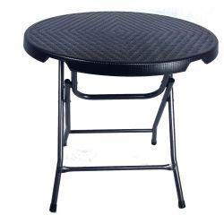 tavolo-pieghevole-rotondo-stile-rattan-nero