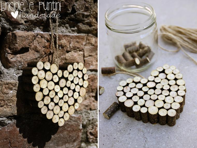 cuore con legnetti - tutorial