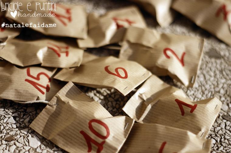 #Natalefaidame calendario dell'avvento in legno