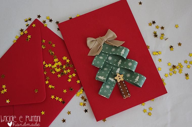 Biglietti Di Natale Di Carta.Natale Di Carta Tutorial Biglietto Natalizio Con Nastrini