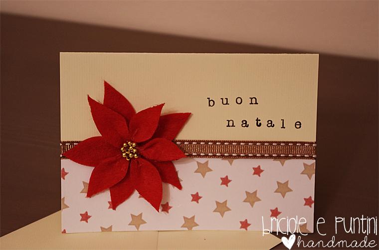 biglietto di Natale con stella in pannolenci
