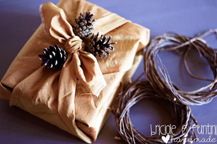 incartare i regali con la stoffa con la tecnica del Furoshiki