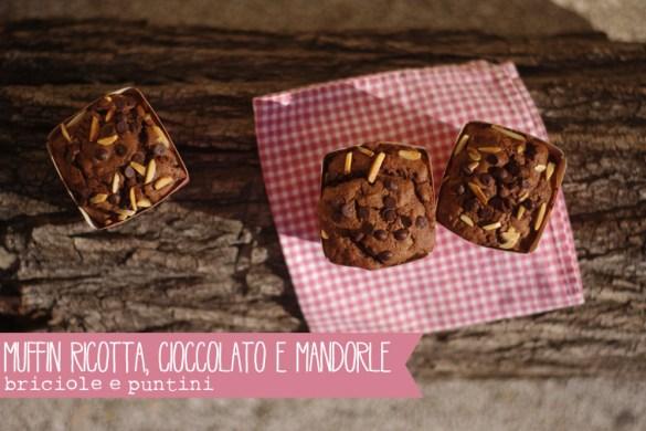 muffin ricotta, cioccolato e mandorle