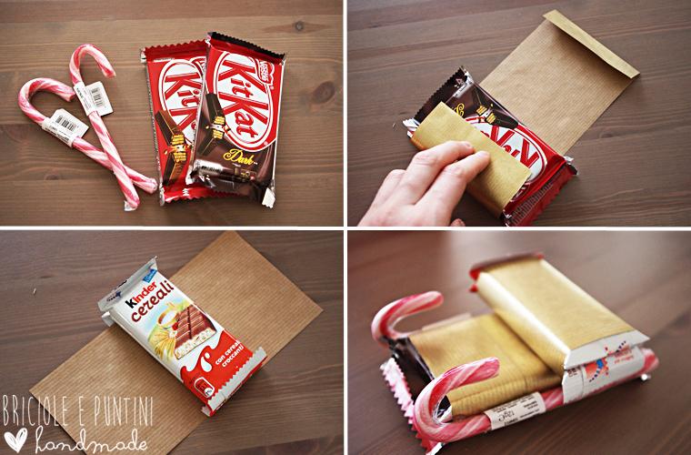 slitta di cioccolatini step by step