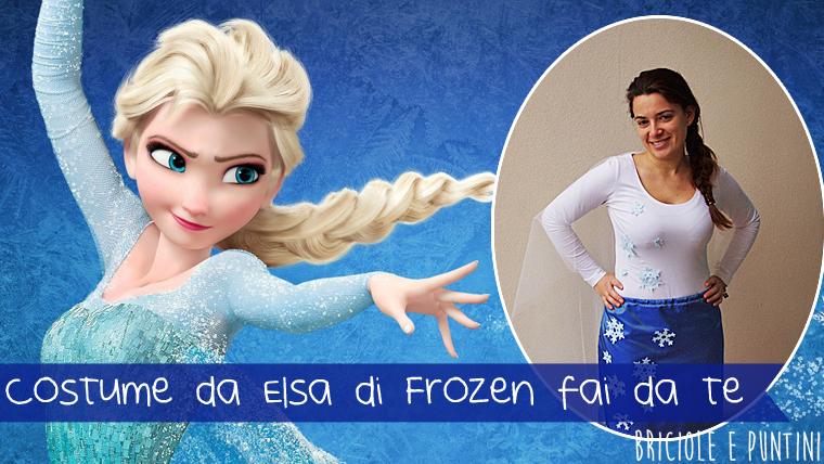 costume da Elsa di Frozen fai da te