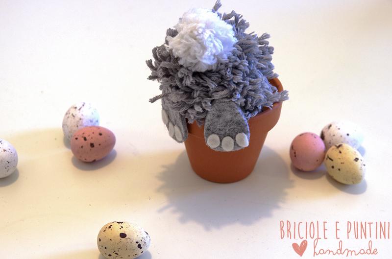 conigli segnaposto per la tavola di Pasqua