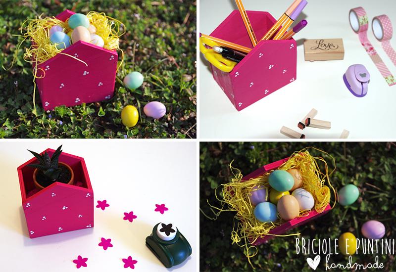 tutorial casetta in legno porta ovetti per Pasqua