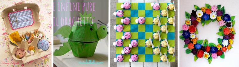idee riciclo creativo dei cartoni delle uova