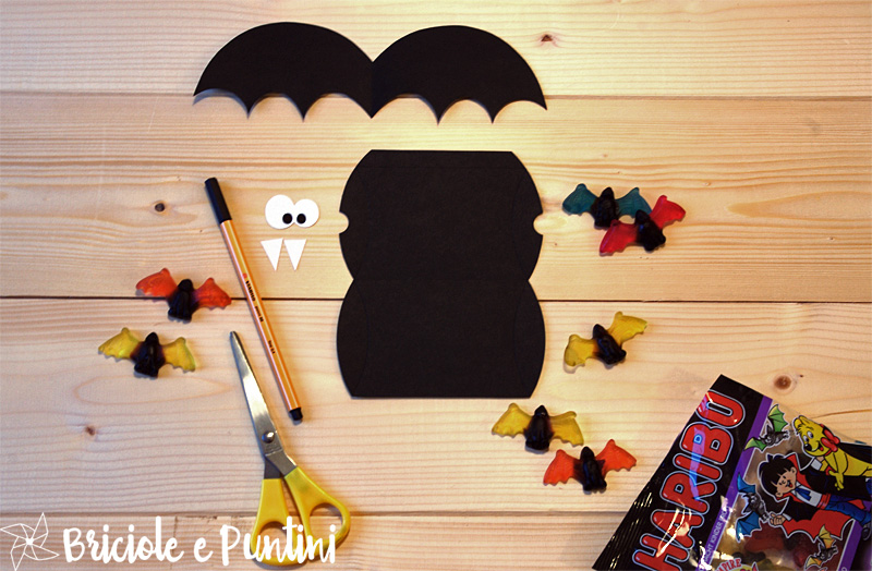 pillow box pipistrello per Halloween