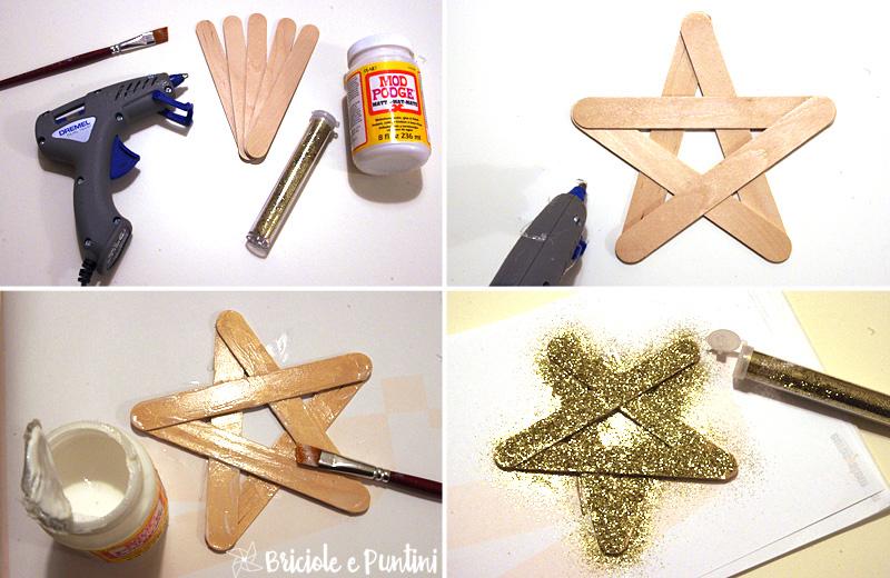 Preferenza Addobbi di Natale: stella glitter con gli abbassalingua OI89