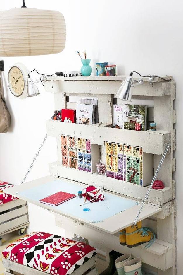 riciclo creativo dei pallet - scrivania