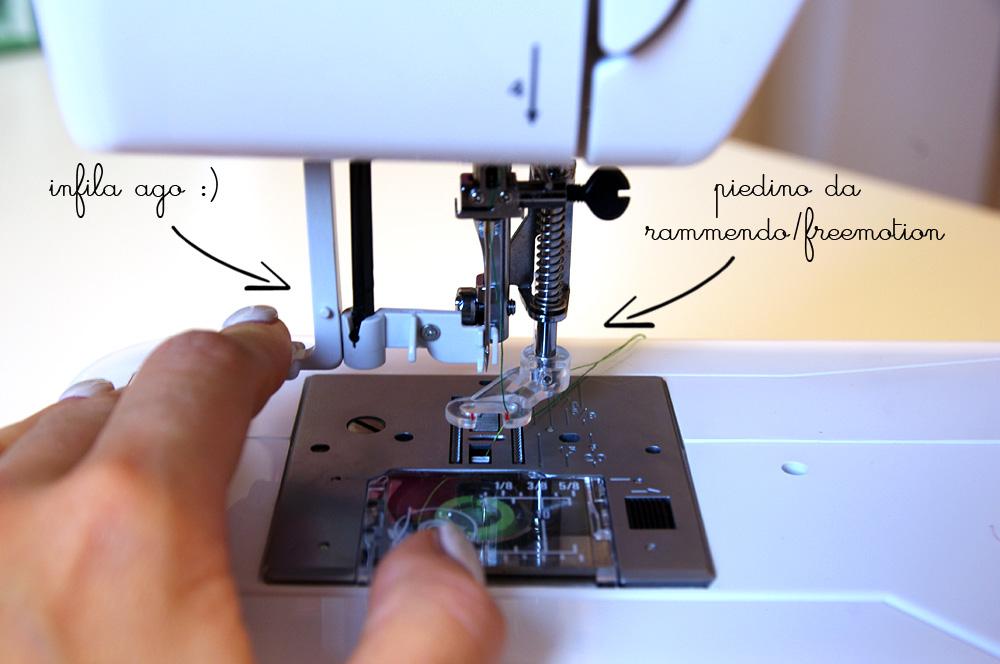 macchina da cucire Janome Sewist521 piedino da rammendo