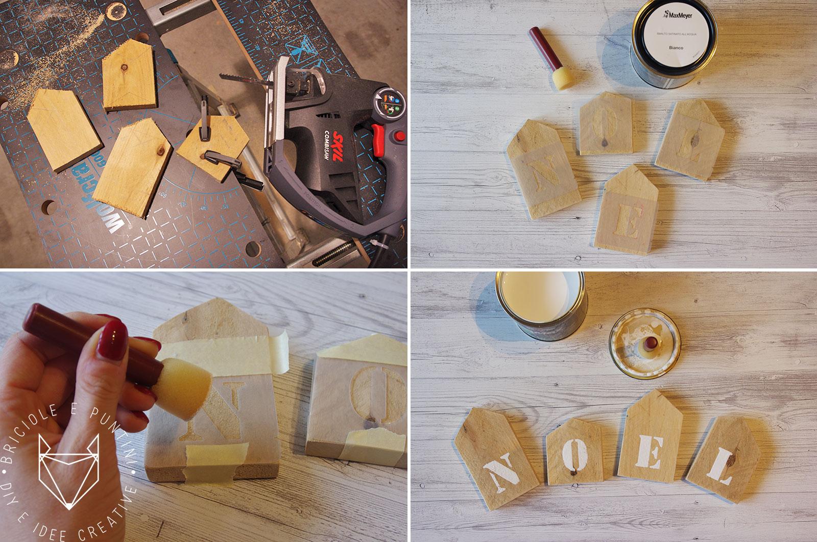 Legno Idee Fai Da Te casette di natale in legno fai da te • briciole e puntini