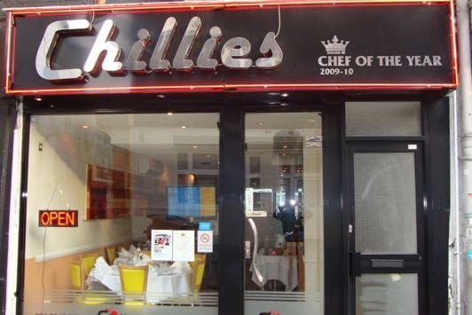 Chillies Restaurant in Brick Lane