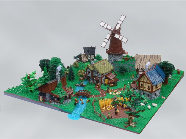 LEGO medieval diorama