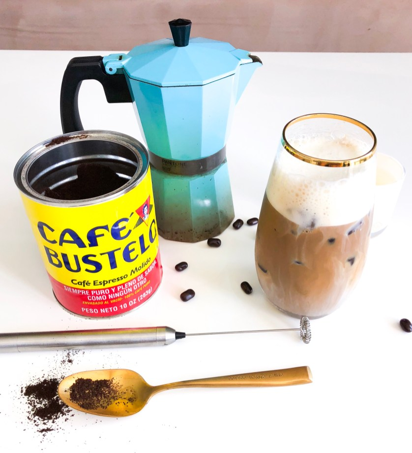How to Make a Cuban Coffee Cafecito Inspired Iced Coffee Recipe