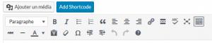 Barre outils traitement de texte