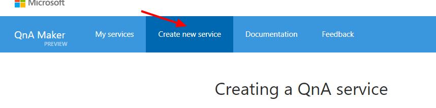 créer un nouveau service