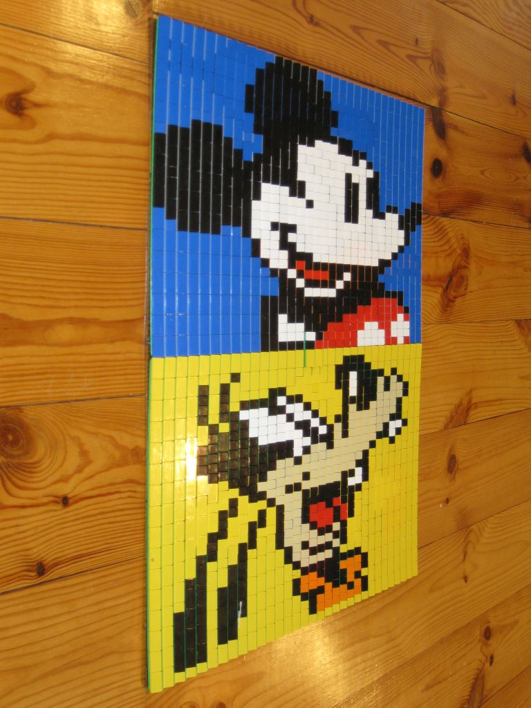 MOC  Mickey Mouse And Friends In Real 3D Lego Mosaic   Special LEGO     img 3391 jpg