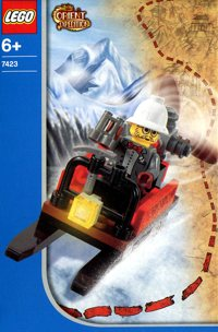 LEGO Adventurers 2003 Orient Expedition 7423 Mountain Sleigh