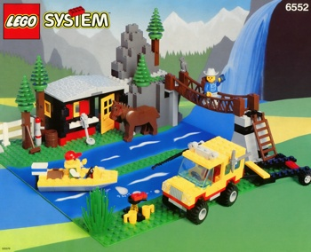 LEGO Town 6552 Rocky River Retreat