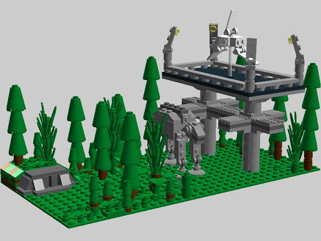 Moc Mini Endor Imperial Outpost Lego Star Wars