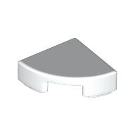lego tile 1x1 quarter round white 100 pcs