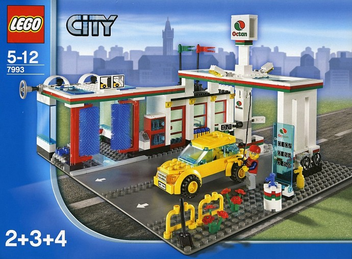 lego city service station set review pictures lego 7993