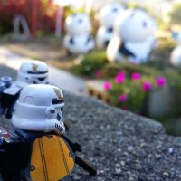 Sandtroopers and Giant Panda Creatures