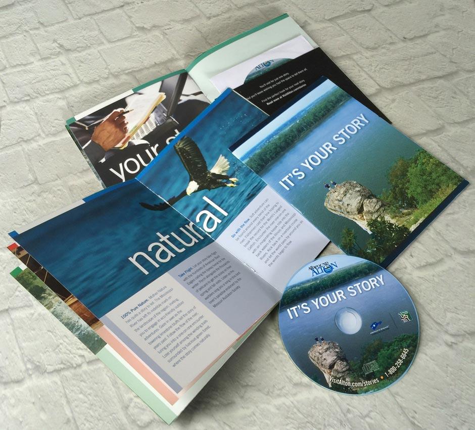 Alton CVB Your Story, graphic design, branding