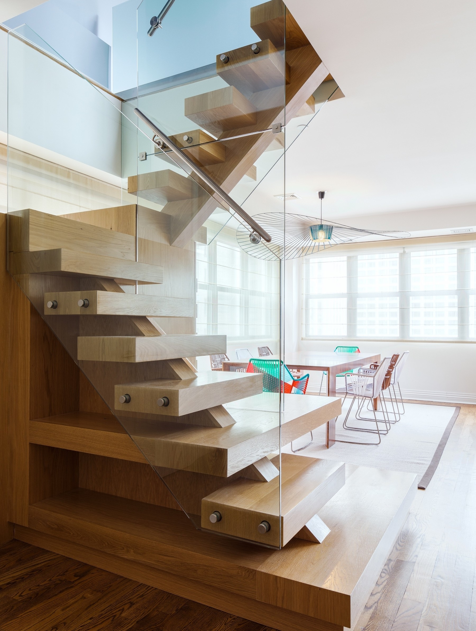 Spiral Staircase Alternatives For Your Nyc Duplex Renovation | Duplex Stairs Wall Design | Middle Room Interior Design | Attractive | Staircase Wall Panel | Living Room Layout | Bungalow Duplex Indian