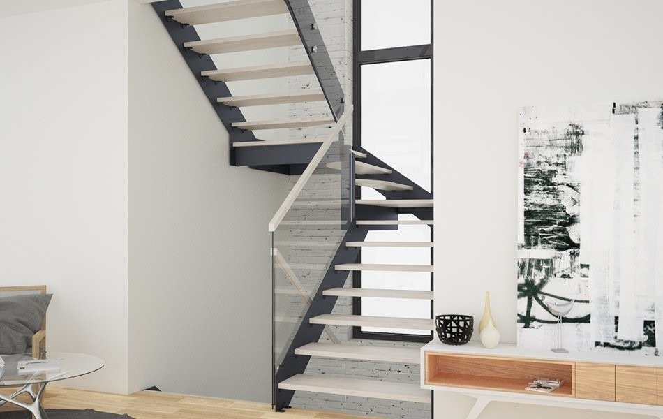Spiral Staircase Alternatives For Your Nyc Duplex Renovation   Steel Ladder Design For Home   Beautiful   Interior   Custom   Steel Staircase   Loft Ladder