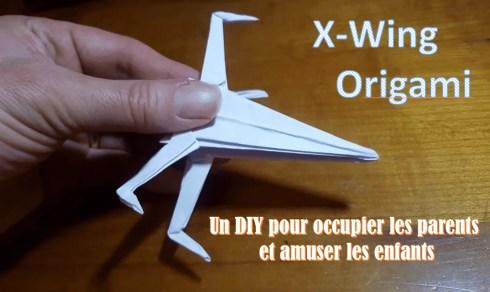 X-Wing de Starwars en origami