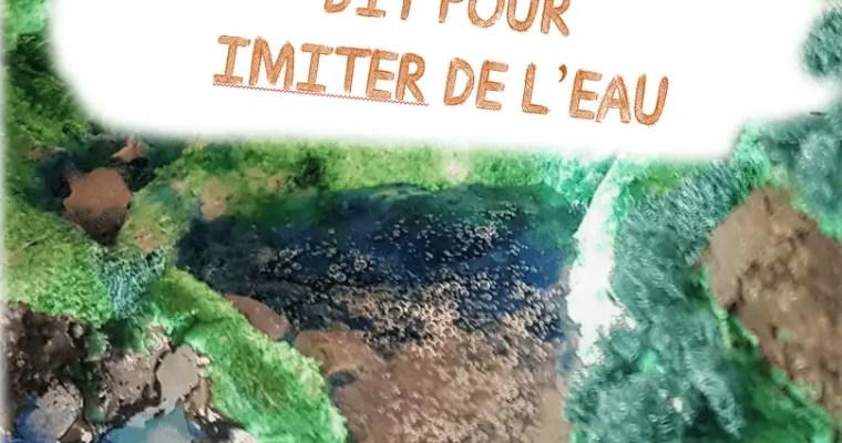 Maquette : comment imiter l'eau