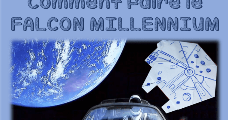 Falcon Millennium en Origami