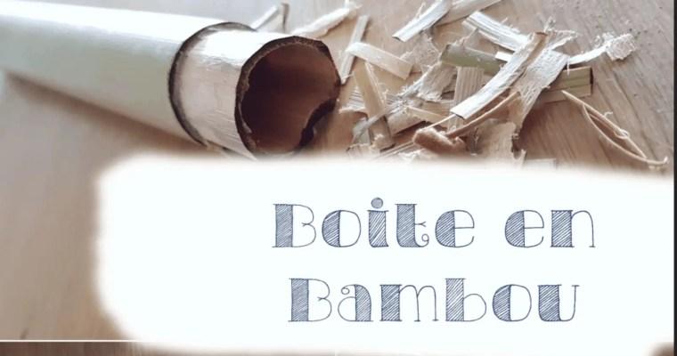 Boite à plumes en bambou