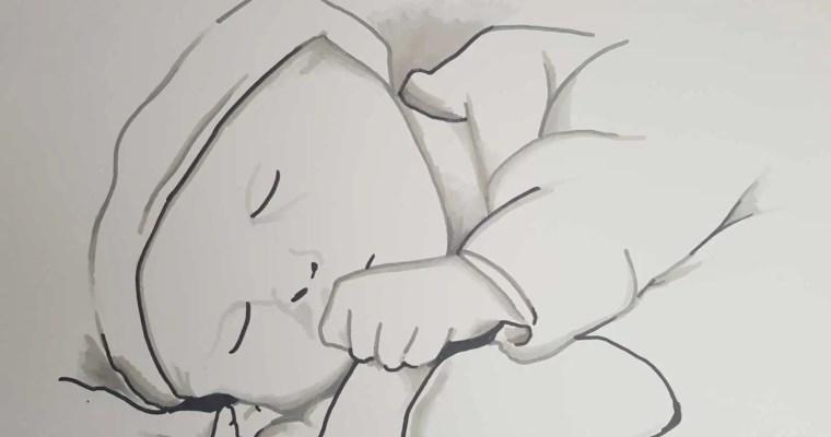sketch de bébé