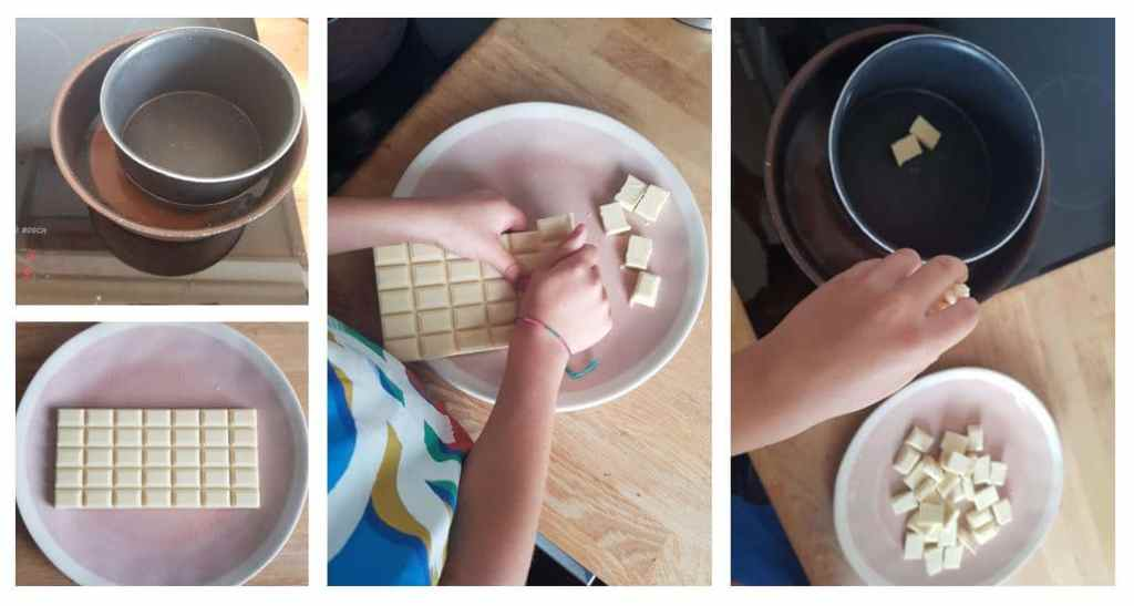 Etape : coque en chocolat