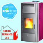 Termostufa pellet queen idro 24 bordeaux