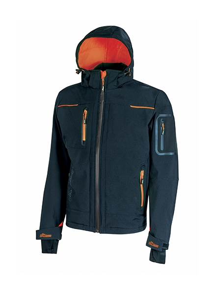 giacca soft shell upower modello space colore deep blue - U Power giacca space