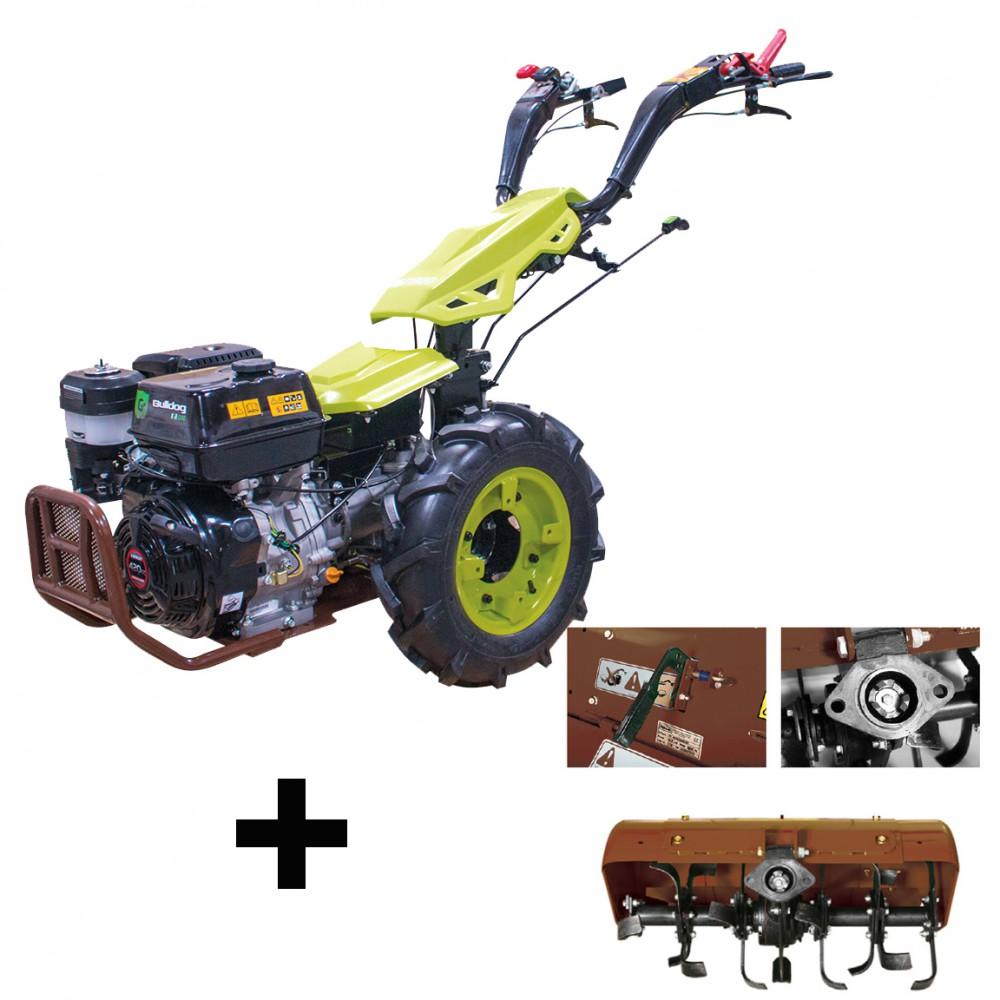 Motoculteur Bulldog Pro 8 Cv Diesel Avec Rotovator Et Demarrage Electrique