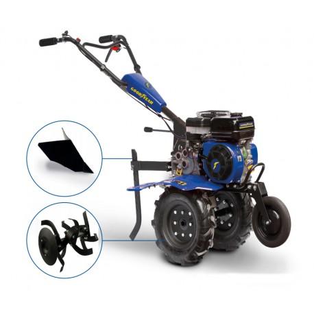 Motoculteur Thermique 212 Cc 7 Cv Goodyear Avec Roues Fraises Et Soc
