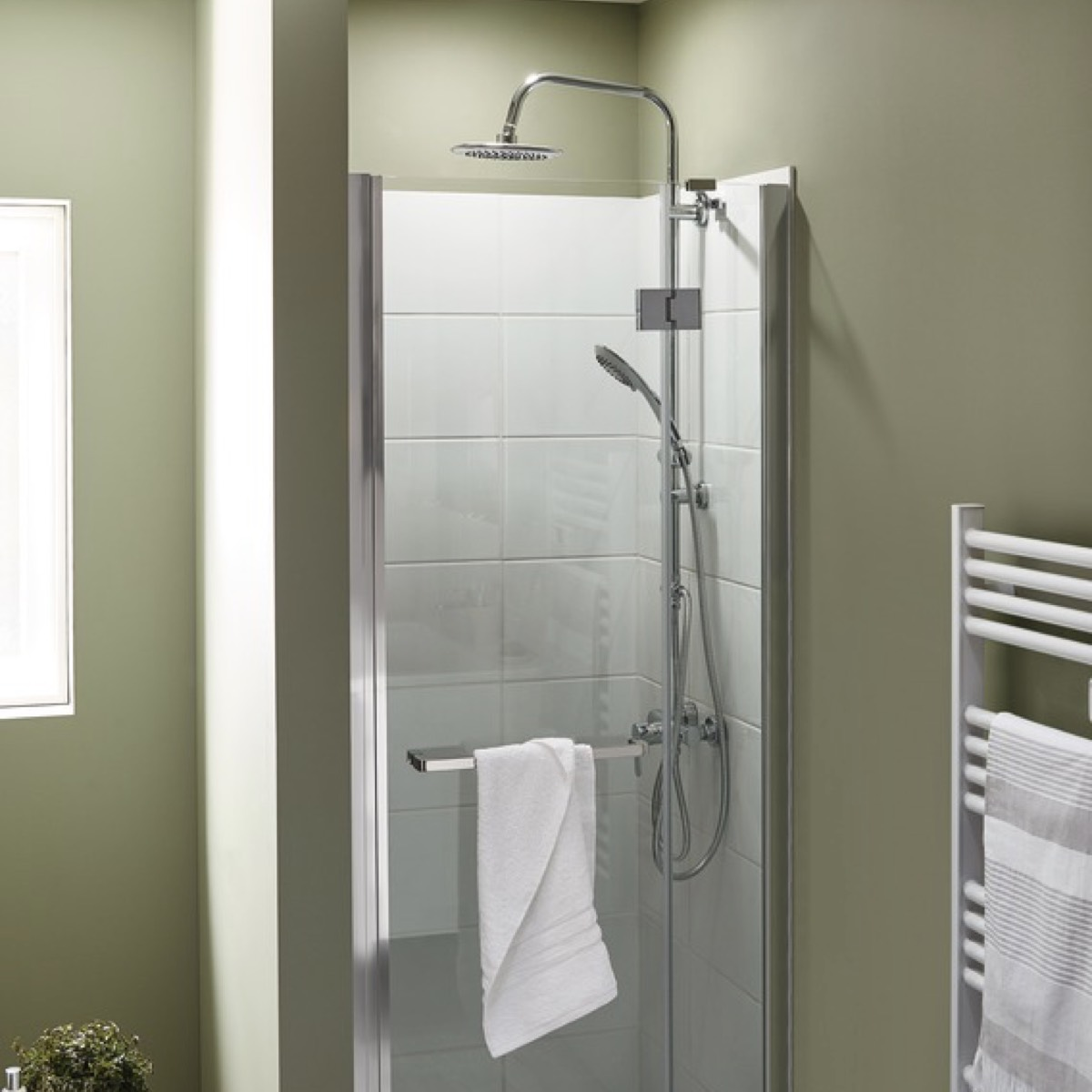 porte de douche pivotante naya l 80